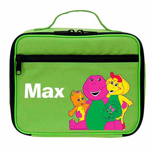 Personalized Barney and Friends Group Hug Green Lunch Bag