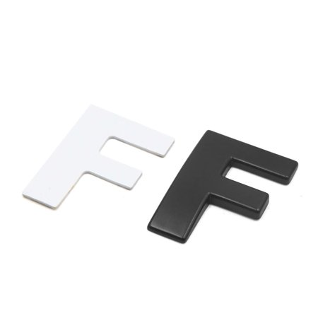 3D Metal F Letter Shaped Alphabet Sticker Car Auto Emblem Badge Decal Black - image 2 de 2