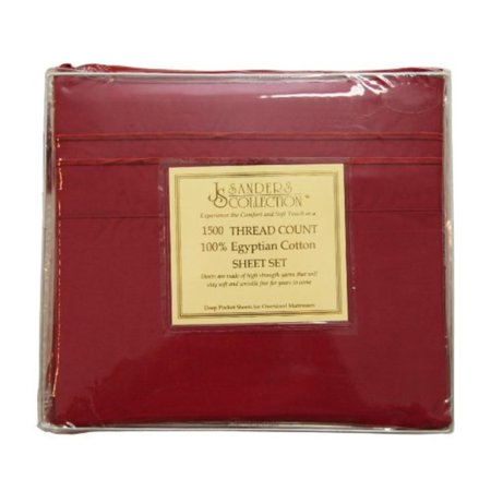 1500 Series Sheet Set, King Size, Burgundy, Sets includes deep pocket fitted sheet, flat sheet, and 2 standard size pillowcases By JS Sanders,USA ()