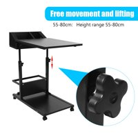 Fugacal Removable Laptop Desk, Laptop Desk with Wheels,Portable Multifunctional Removable Laptop Desk with Wheels Drawer Bed Sofa Books