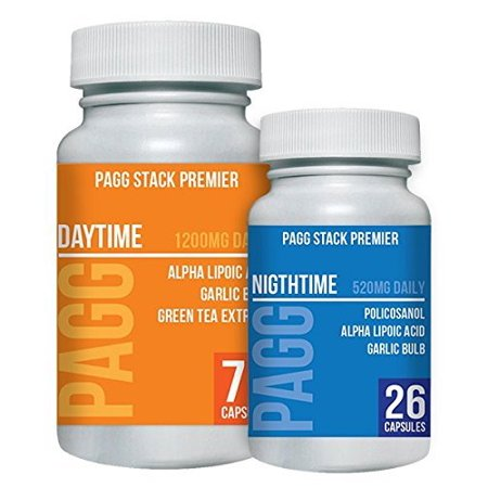 Premier PAGG Stack - Blend of 8 Potent Dietary Supplements - Builds Muscle and Aids in Weight