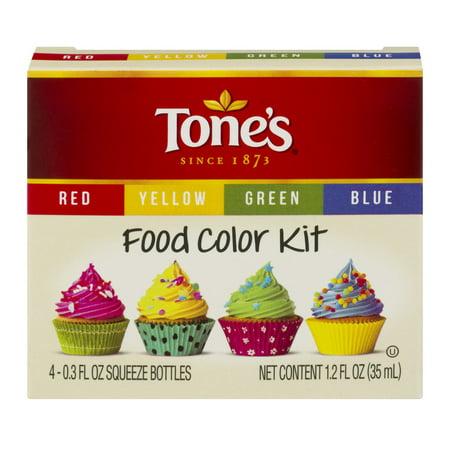 Liquid Food Coloring ((3 Pack) Tone's Food Color Kit, 0.3 FL OZ )