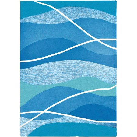 Homefires PP-HF045C 3 x 5 ft. Tranquility Bay Indoor Outdoor Area Rug, Navy - image 1 of 1