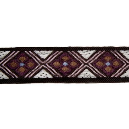 1 1/2 Inch Purple Diamonds Woven Jacquard Braid Ribbon