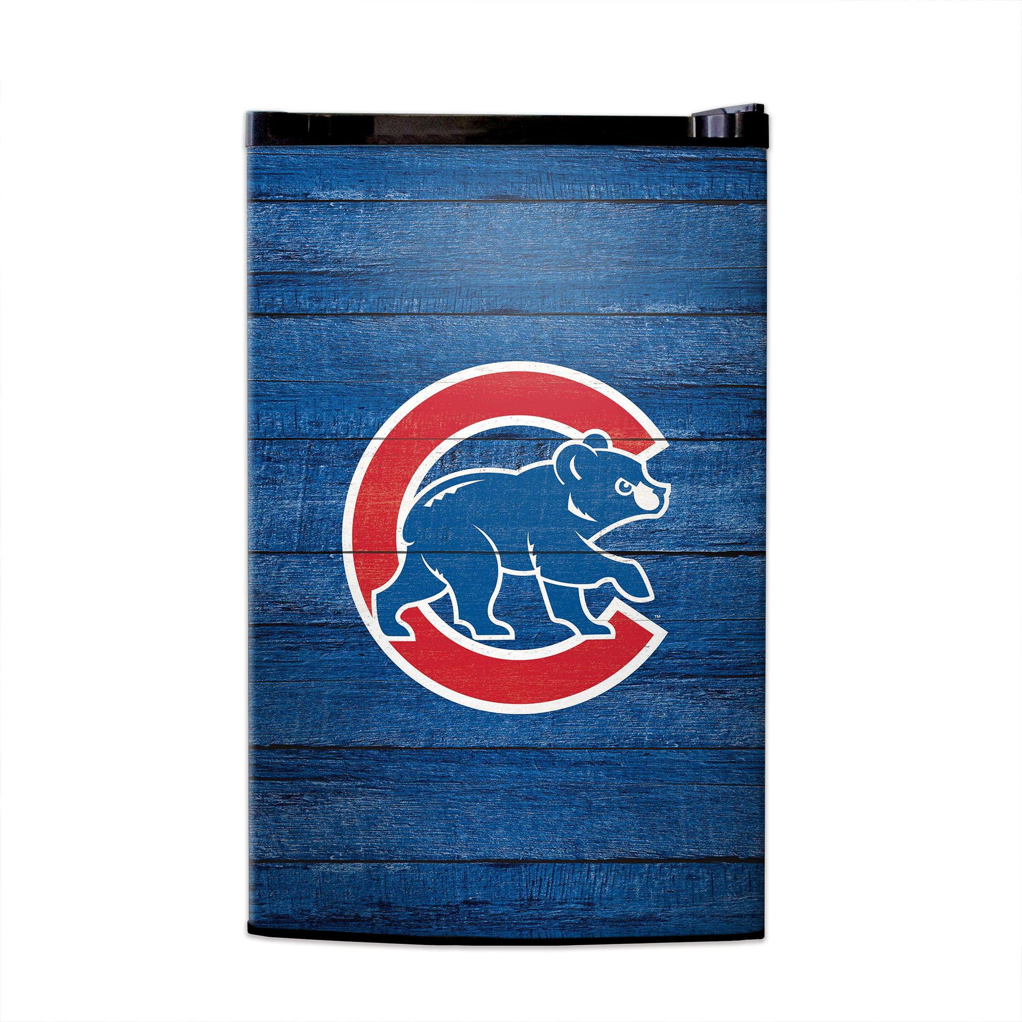 Chicago Cubs Wood Logo Fridge Skin