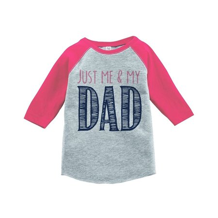 Custom Party Shop Girls' Father's Day Vintage Baseball Tee - Pink / 3T