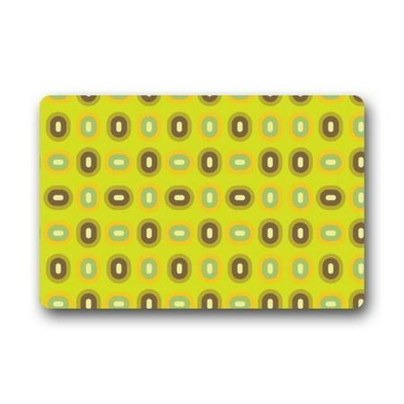 WinHome Lovely Cute Oval Dots In Green Doormat Floor Mats Rugs Outdoors/Indoor Doormat Size 23.6x15.7 inches