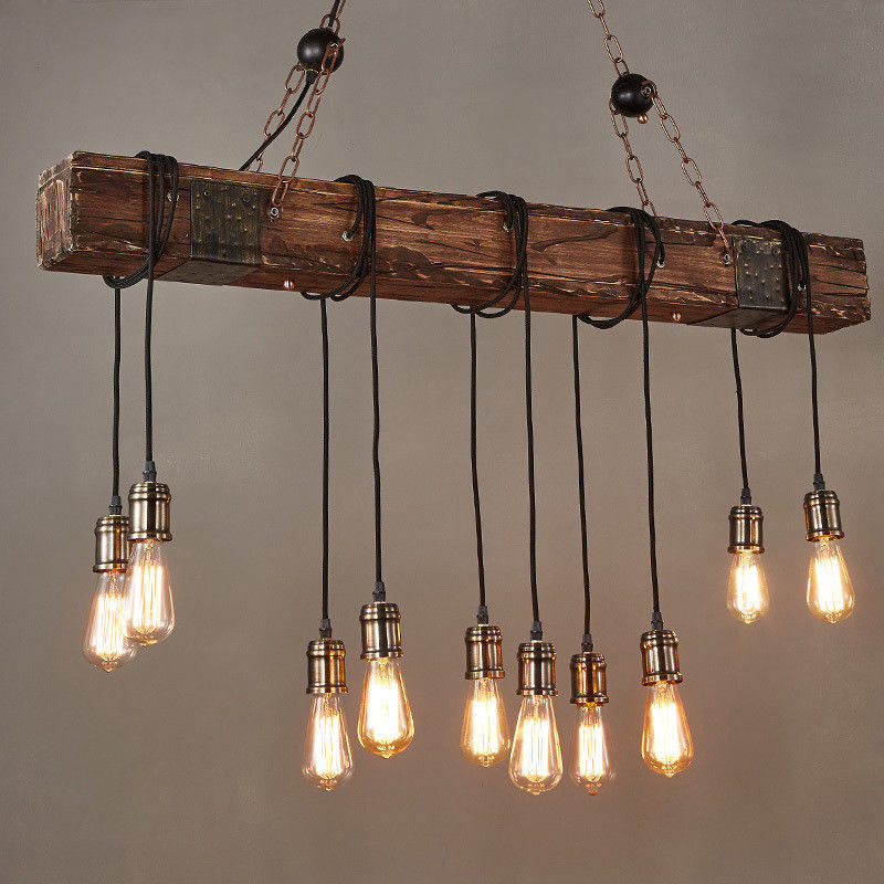 46 110v Vintage Farmhouse Wood Beam