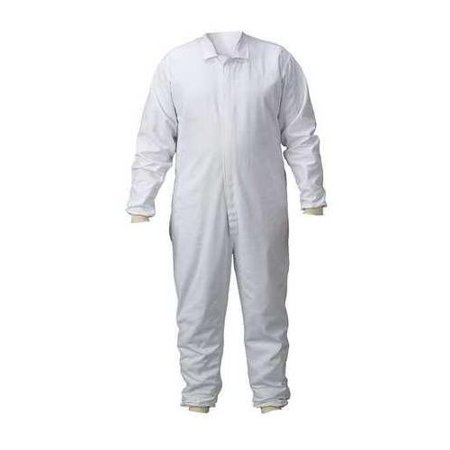 LAKELAND C314-2440 Lab Coverall, Chest Sz 40, 36x29, White