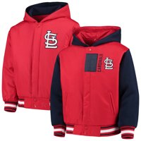 St. Louis Cardinals JH Design Youth Reversible Poly-Twill Hoodie Jacket - Red/Navy