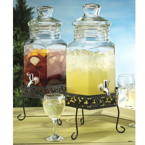 Home Essentials Del Sol Drink Dispenser on Scroll Stand