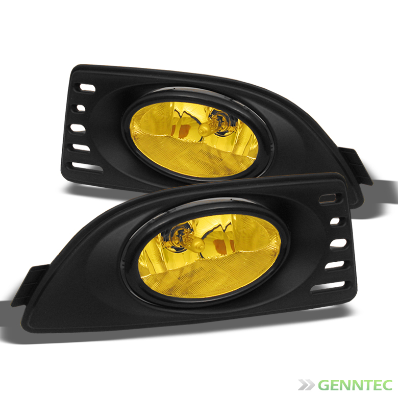 2005-2007 Acura RSX JDM Yellow Bumper Fog Lights Lamps+Switch+Bulbs+Harness 2006 Pair Left+Right
