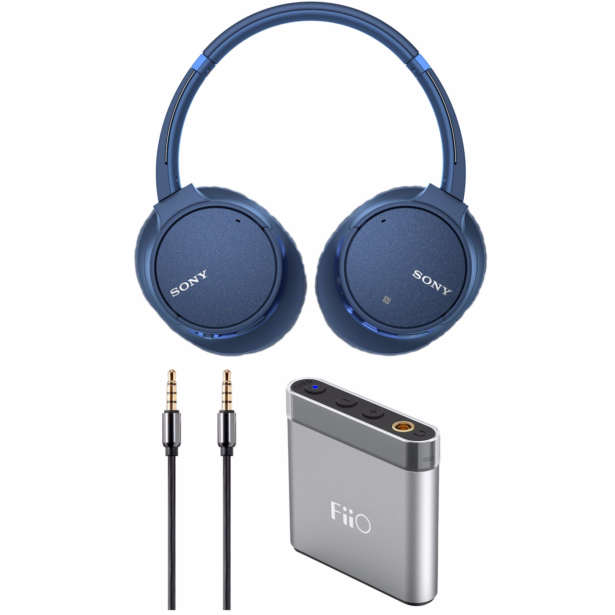 Sony WH-CH700N Wireless Noise Canceling Headphones (Blue) Bundle