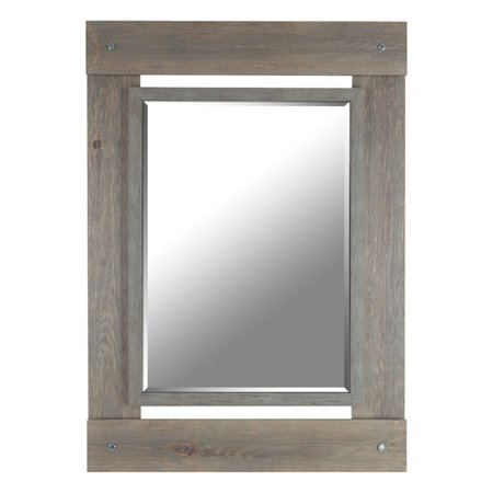 Mirrorize Canada Real Wood Beveled Mirror - 30W x 43H (Real Canadian Warehouse)