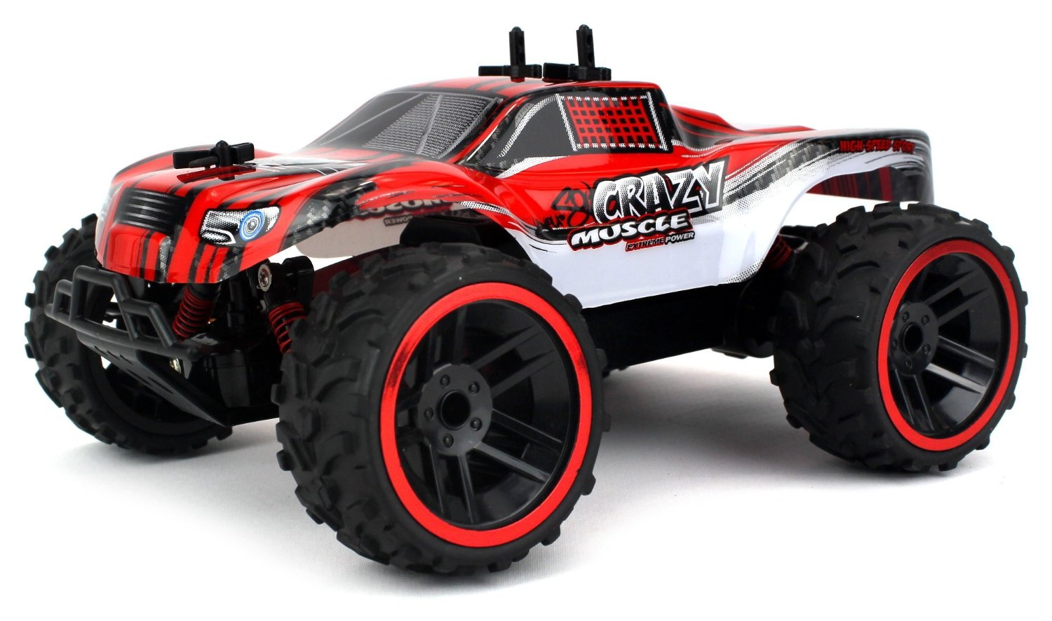 Buggy Crazy Muscle Remote Control RC Truck Truggy 2.4 GHz PRO System 1:16 Scale Size RTR w... by Velocity Toys