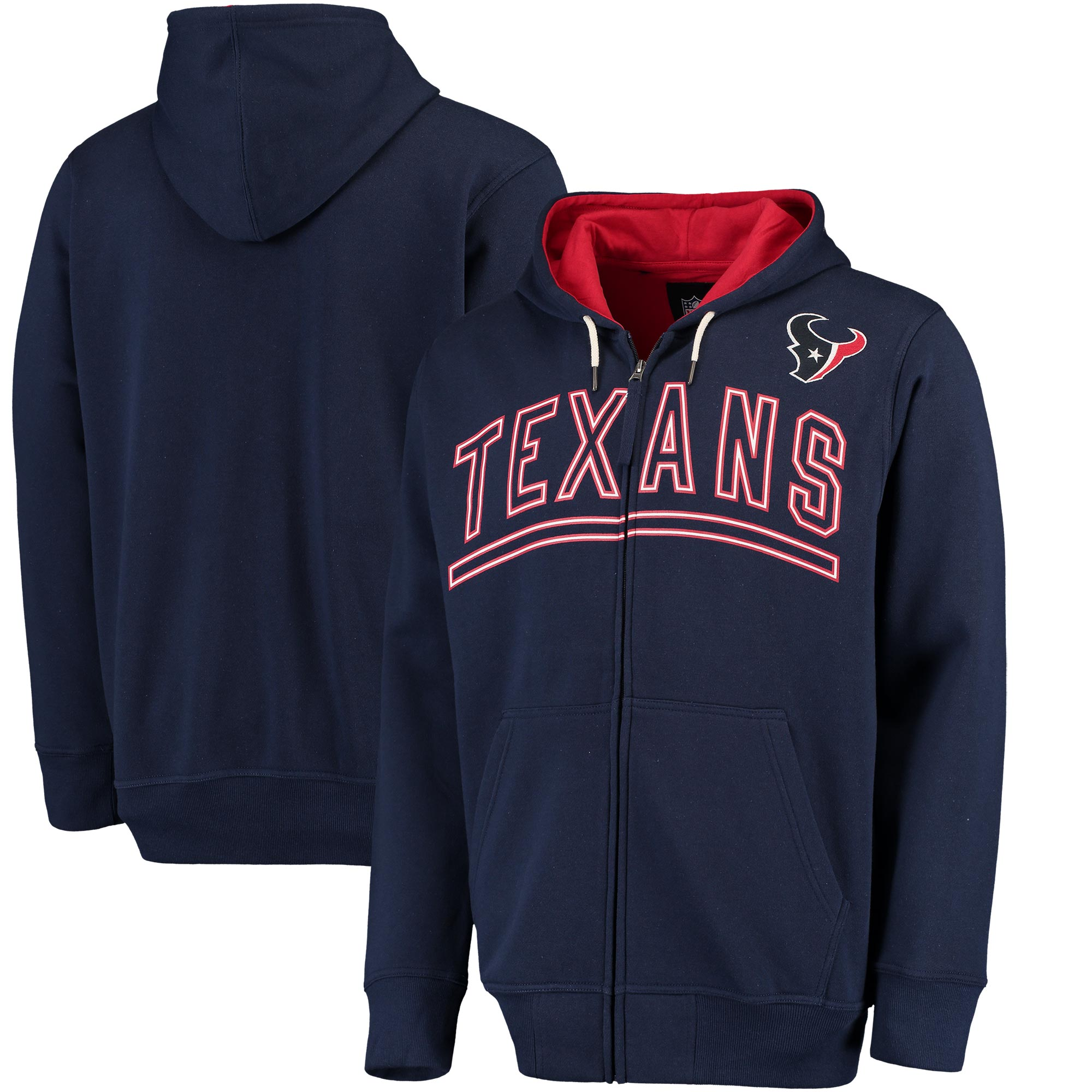 Houston Texans G-III Sports by Carl Banks Audible Full-Zip Fleece Hoodie - Navy
