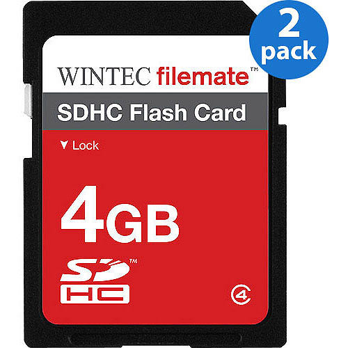 2-Pack: Wintec FileMate 4GB SDHC Secure Digital Flash Memory Card