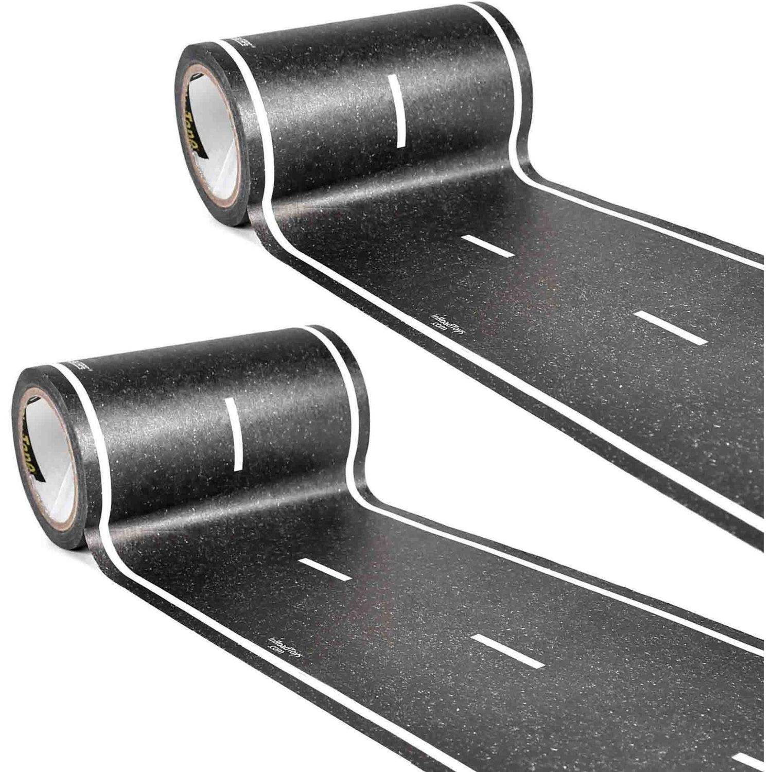 "PlayTape Classic Road Series Bundle 30' x 4"" Black Road, Pack of 2"