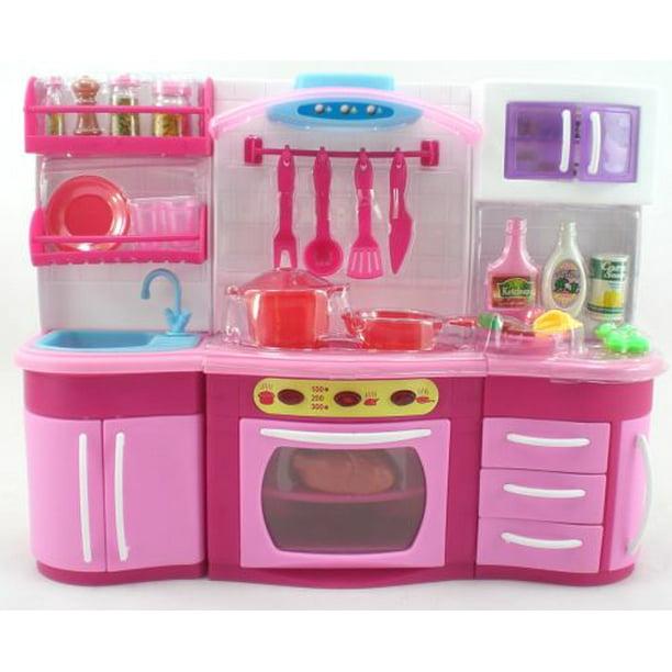 Pink Deluxe Barbie Size Kitchen Furniture Walmart Com Walmart Com