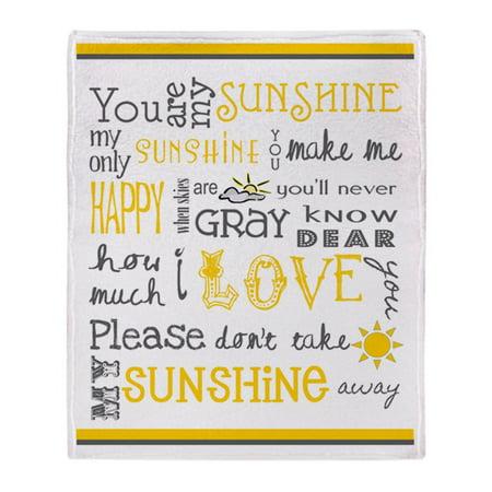 - CafePress - You Are My Sunshine - Soft Fleece Throw Blanket, 50