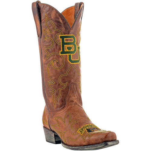 "Men's Tan Baylor Bears 13"" Original Embroidered Boots"