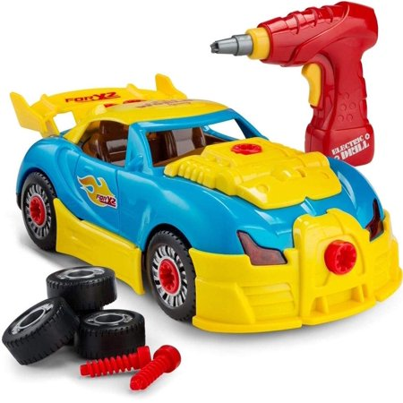 - Racing Car Toy for Kids Take Apart Formula with 30 Take Apart Pieces Creative, Construction Tool Drill, Lights and Sounds
