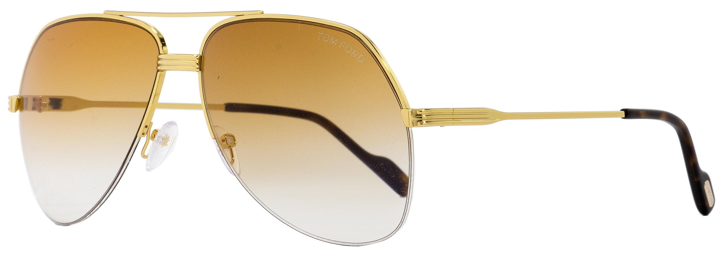 0503f7f6062 Tom Ford - Tom Ford Aviator Sunglasses TF644 Wilder-02 32F Gold Havana 62mm  FT0644 - Walmart.com
