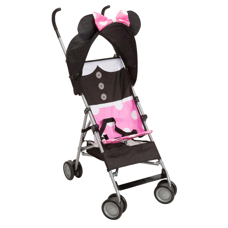 Disney fort Height Character Umbrella Stroller with Basket Minnie Dress Up Walmart