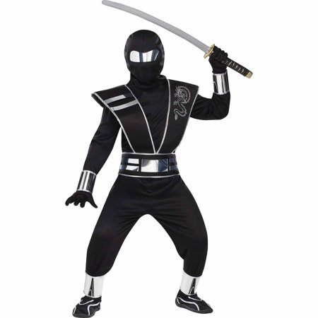 Silver Mirror Ninja Child Halloween Costume - Fun Cheap Homemade Halloween Costumes
