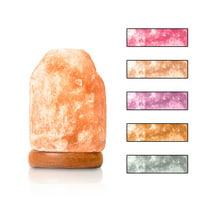 Salacia Mini Heart of the Himalayan USB Multi-Color Salt Lamp Light, Pink