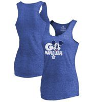 Toronto Maple Leafs Fanatics Branded Women's Disney Rally Cry Tri-Blend Tank Top - Blue