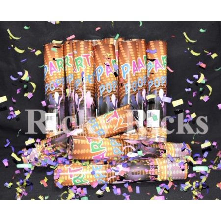 12 Party Poppers Confetti Wedding Shooter Cannon Streamer New Years