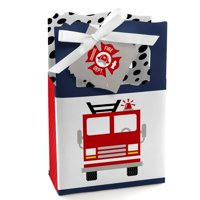 Fired Up Fire Truck - Firefighter Firetruck Baby Shower or Birthday Party Favor Boxes - Set of 12