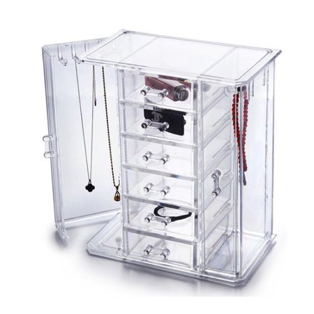 Ondisplay tiered acrylic jewelry cabinet organizer for Craft smart acrylic paint walmart