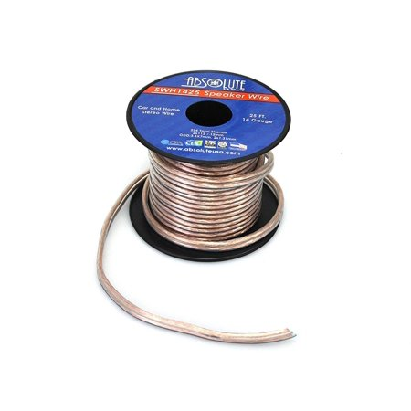 absolute usa swh1425 14 gauge car home audio speaker wire cable spool 25 39. Black Bedroom Furniture Sets. Home Design Ideas