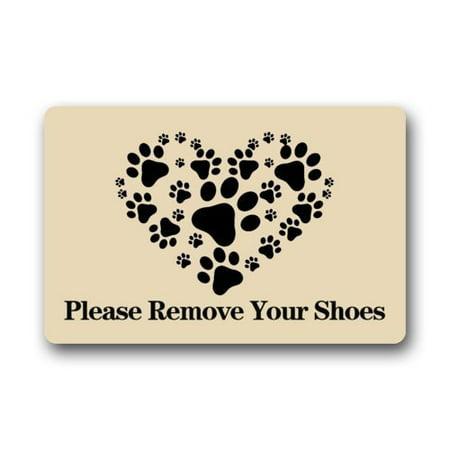 Winhome please remove your shoes doormat floor mats rugs outdoors indoor doormat size 30x18 - Remove shoes doormat ...