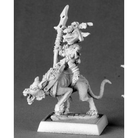 Miniature Dog - Reaper Miniatures Goblin Commando On Dog #60014 Pathfinder Miniatures Unpainted