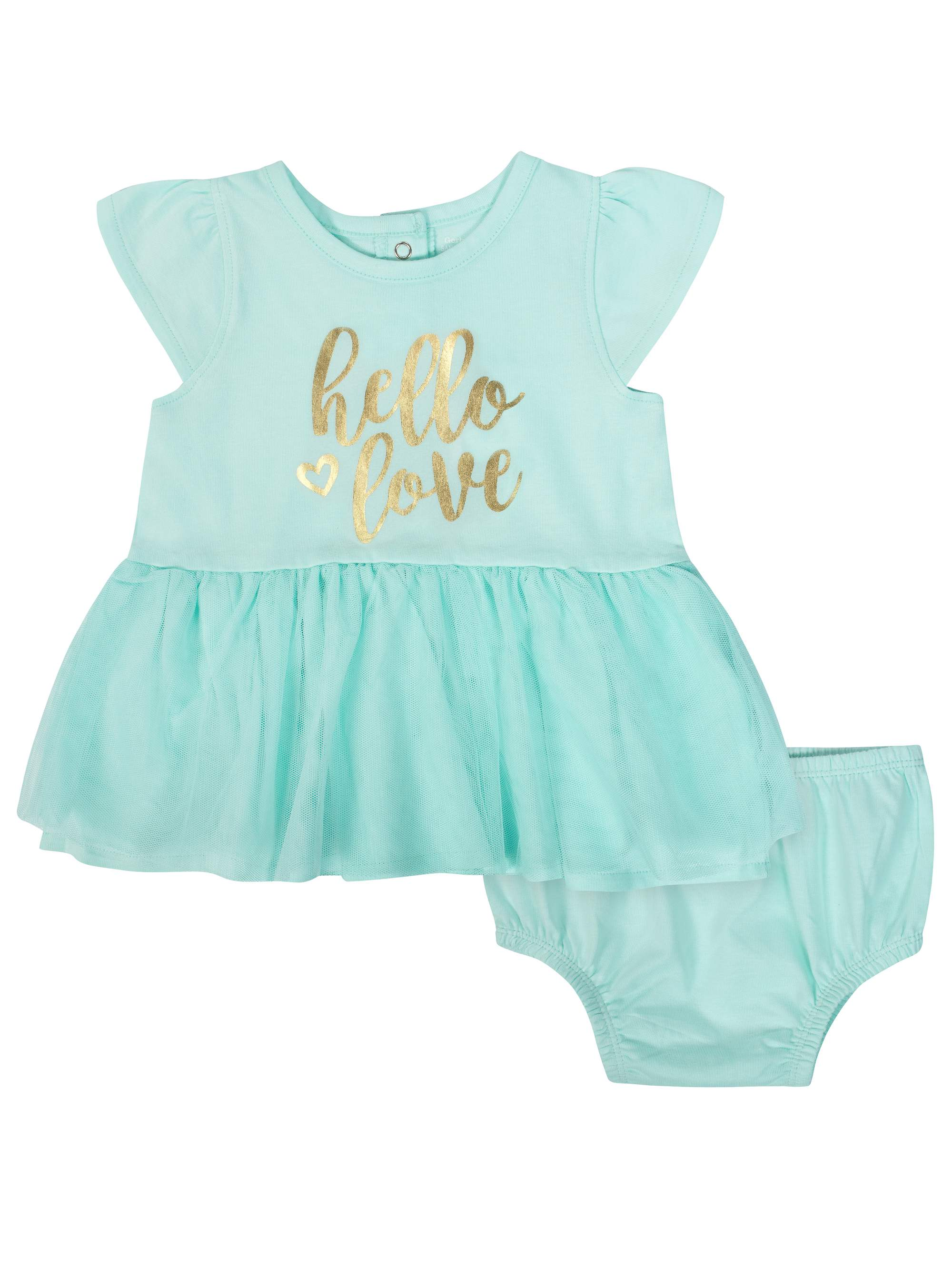 Tulle Dress and Diaper Cover Outfit Set, 2pc (Baby Girls)