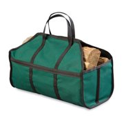 Durable Canvas Log Carrier, Green