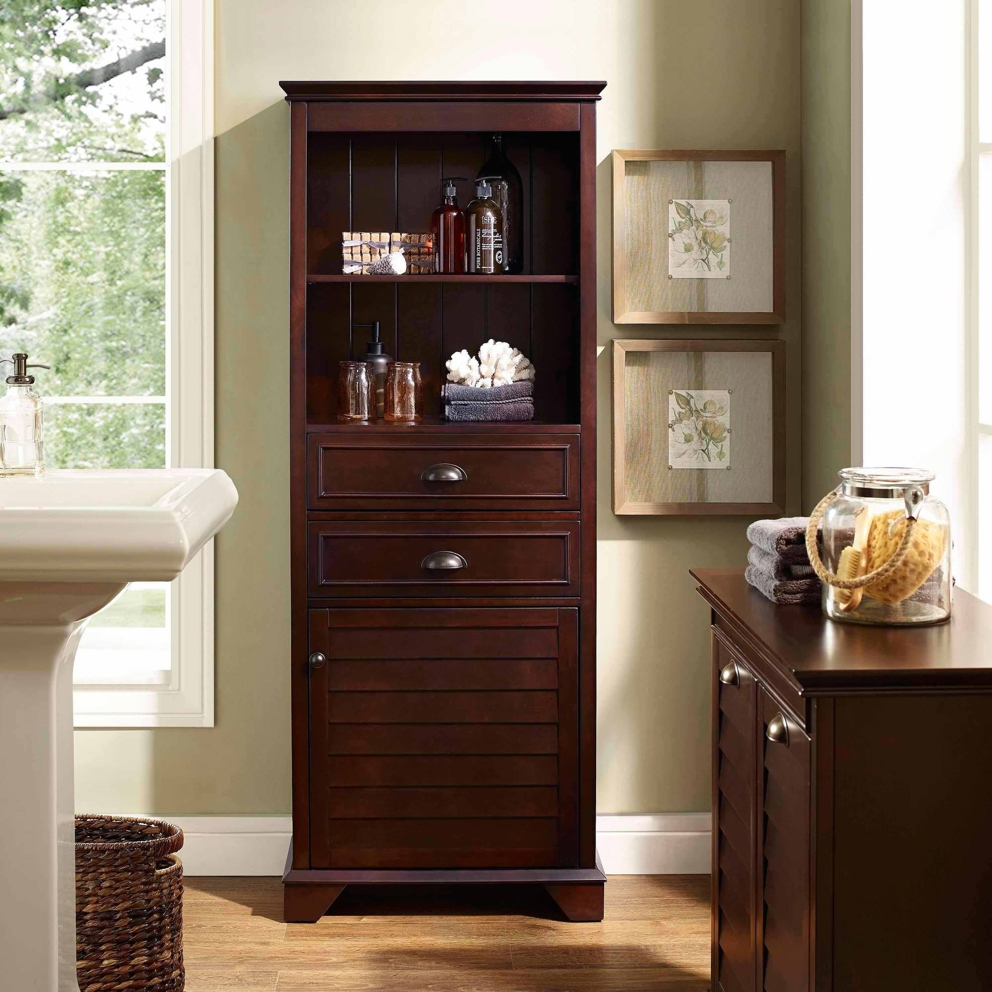 Crosley Furniture Lydia Tall Cabinet, Multiple Colors
