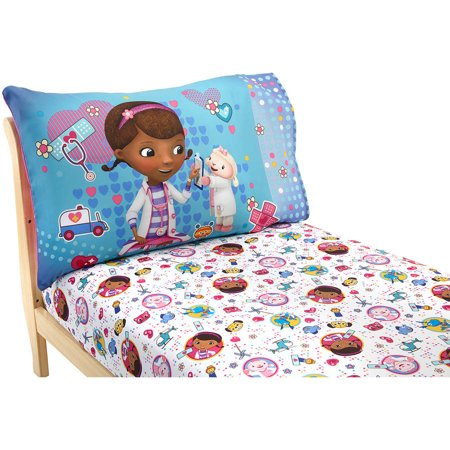 Disney Doc McStuffins Toy Doc Toddler Sheet Set, 2-Pack