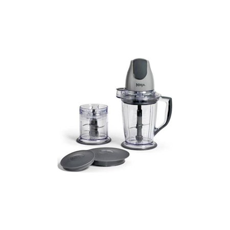ninja 400-watt blender/food processor for frozen blending, chopping and food prep with 48-ounce pitcher and 16-ounce chopper bowl (qb900b),