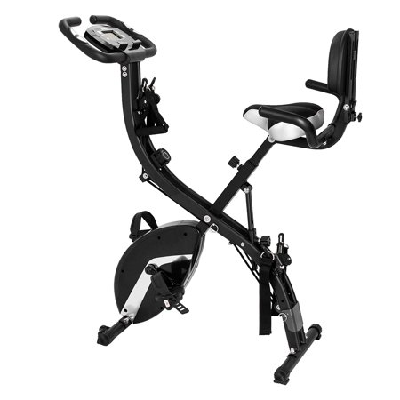 3-in-1 Cardio Folding Exercise Bike 8 Resistance Levels Upright Bike with Heart Rate Sensors