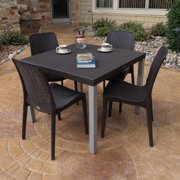 Strata Furniture Cielo 5 Piece Dining Set