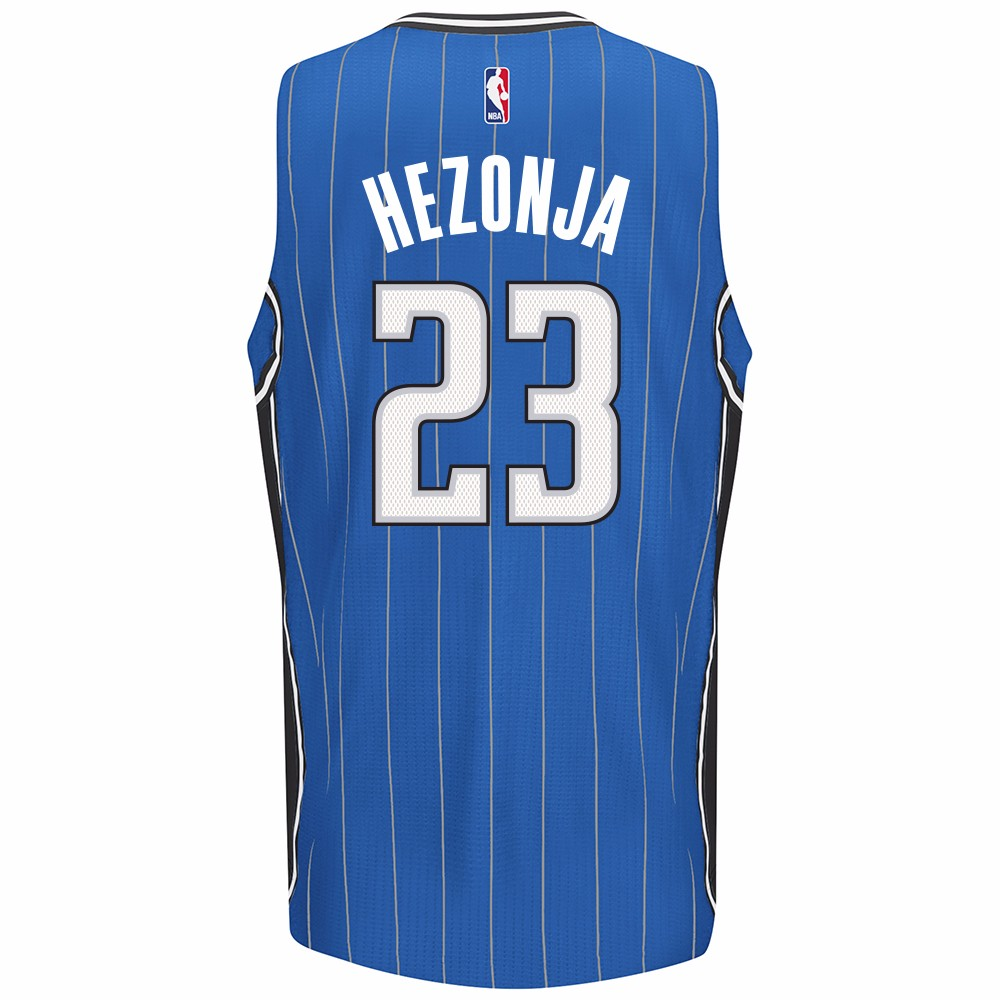 Mario Hezonja Orlando Magic NBA Adidas Blue Official Climacool Away Road Swingman Jersey For Men (M)