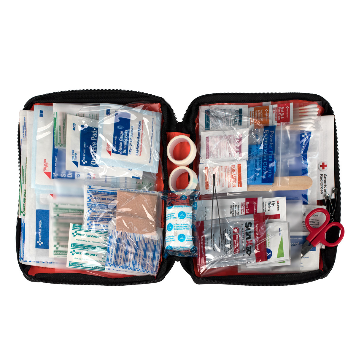 Click here to buy First Aid Only Outdoor First Aid Kit, Fabric Case, 204 Pc by ACME UNITED CORPORATION.