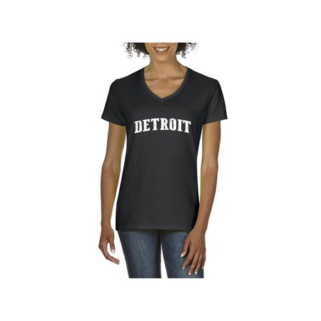 Michigan V-neck (Detroit Michigan Women V-Neck)