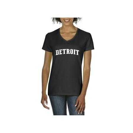 Detroit Michigan Women V-Neck - Michigan Womens Shirt