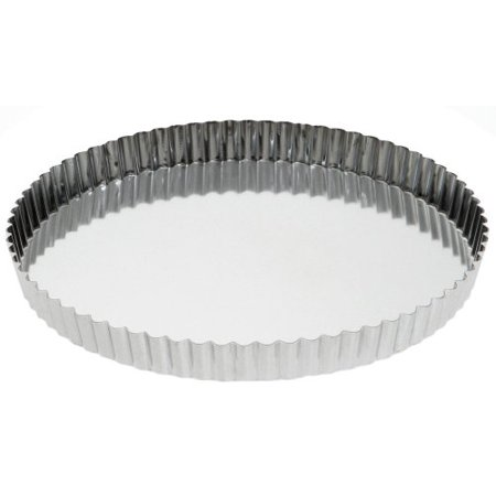 Fluted deep tart quiche mold removable bottom
