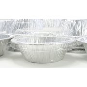 """KitchenDance Disposable Aluminum 4"""" Deep Mini Pie or Tart Pan with Clear Dome Lid #1152P"""